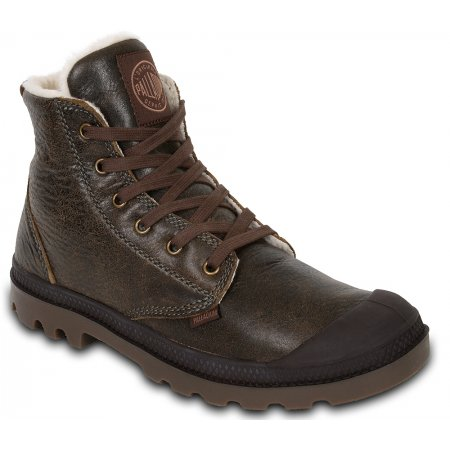 Ботинки Palladium Pampa Hi Leather S rootbeer 02609224