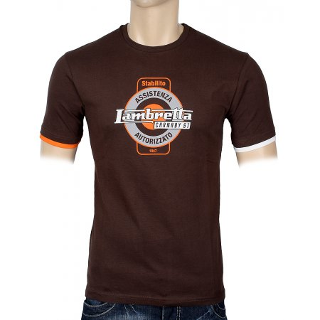 Футболка Lambretta LMK 7834- chocolate